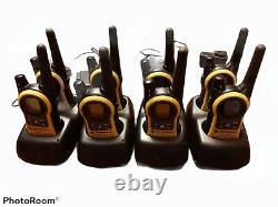 100% works LOT OF EIGHT MOTOROLA TALKABOUT MH230R Walkie Talkie Radios &Chargers