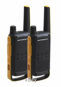 10Km Motorola TLKR T82 Walkie Talkie Two Way Security Radio Six + 6 Throat Mic