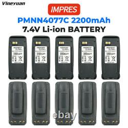 10PC PMNN4077C Radio IMPRES Battery For Motorola XPR6550 XPR6500 XPR6300 XPR6350