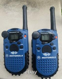 2 Motorola Talkabout 250 Walkie Talkies with Channel Scan and Lock Tested