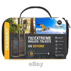 2x Motorola T82 Extreme Walkie Talkie PMR 446 Radios Twin Pack Rechargeable IPX4