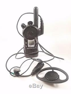 3 Motorola CLS1410 UHF Business 2-Way Radios Walkie Talkie with1 charger with mics