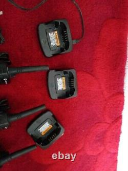 3 x Motorola XT420 Walkie-Talkie Two Way Radio with 3 Chargers and 3 belt clip