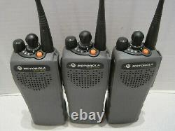 3 x Motorola XTS 1500 700/800 MHz Two way radio H66UCC9PW5AN withBattery