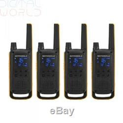 4x Motorola T82 Extreme Walkie Talkie PMR 446 Radios Quad Pack Rechargeable IPX4