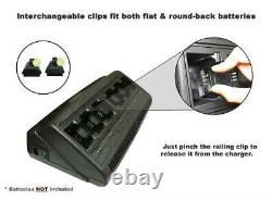 6-Bank Universal Charger for Motorola Radio Batteries NNTN4497 4970 4851 CP200D