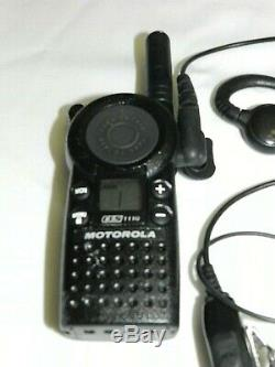 6 Motorola CLS1110 UHF 2-Way Radio Business Walkie Talkie with Charger Headsets