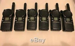 6 Motorola CLS1413 UHF Radios Walkie Talkies 4-Channe with 6 Multi-Unit Charger