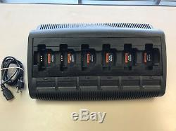 6 Unit Rapid Bank Charger for Motorola CP200, CP200XLS & CP200D (NNTN8355A)
