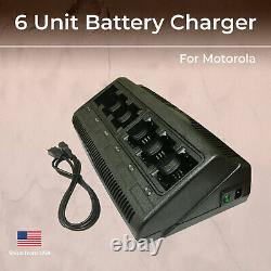 6 Unit Two-Way Radio Battery Charger for Motorola for NNTN4497 4970 CP200 EP450
