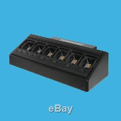 6 Way Multi Unit Charger for Motorola CP200 CP200XLS MOTOTRBO CP200D CP400