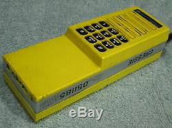 CHESSIE SYSTEM RAILROAD TRAIN RADIO MOTOROLA MT500 YELLOW with DTMF & MIC