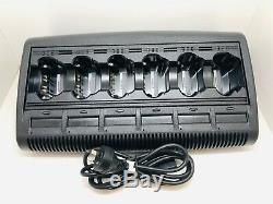 Globe Roamer Motorola WPLN4118BR 6 Bay Multi Unit Charger Suits XTS Portables