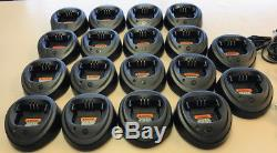 LOT OF 18 Single Chargers For Motorola CP150 CP200 CP200D PR400 (WPLN4137)