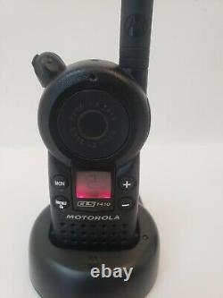 LOT OF 2 Motorola Walkie Talkie CLS1410 Two-Way Radio with Batteries and Chargers