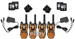 LOT of 4 Motorola TalkAbout MT351R FRS GMRS Walkie Talkie 2-WAY Radio TESTED