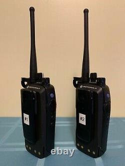 Lot of 2 Motorola XPR6550 Portable 450-512 Mhz Include Impres Battery, and Clip
