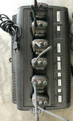 MOTOROLA IMPRESS BATTERY CHARGER CONDITIONER 6bank WPLN4198 With Six HT750 Radio