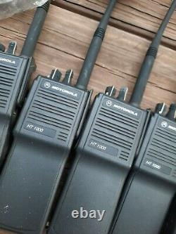 Motorola HT1000 VHF Portable Two Way Radio Lot, FOR PARTS OR REPAIR, AS IS