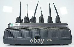 Motorola Impres WPLN4121BR 6-Unit Gang Charger with 6x MTS 2000 I Walkie Talkies