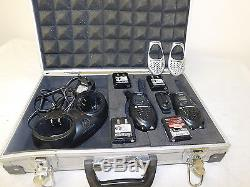 Motorola T-5022 Walkie Talkie Set With 4 Batteries, Charger, and Case