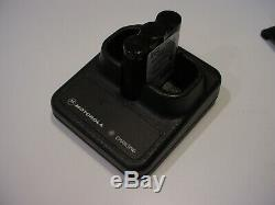 Motorola Talkabout Distance 2 Way Walkie Talkie Radio with drop-in charger