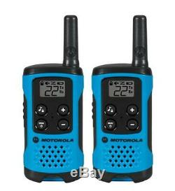 Motorola Talkabout T100 Walkie Talkie 8 Pack Set 16 Mile Two Way Radios Blue