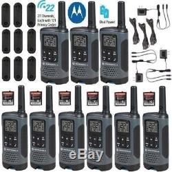 Motorola Talkabout T200TP Walkie Talkie 9 Pack Set 20 Mile Two Way Radio New