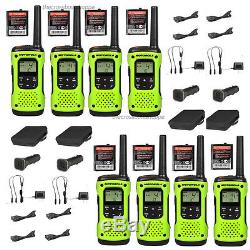 Motorola Talkabout T605 H2O Walkie Talkie 8 Pack Set Two Way Radio Waterproof