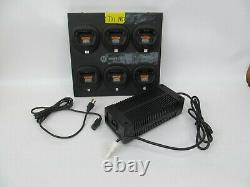 Motorola WPLN4171A 6-Bay Charging Station Rapid Charger with Power Supply