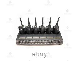 SIX Motorola XPR6550 UHF Radios With WPLN4218A Impres Six Slot Charger