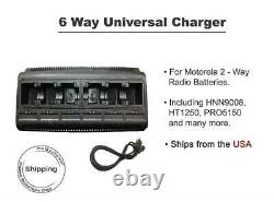 Two-Way Radio 6 Ports Bank Charger for Motorola Battery HNN9008 HT1250 750 1550