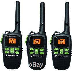 Walkie Talkie Radio Talkabout Motorola MD200TR Two Way 3 Pack Set 20 Mile Range