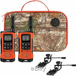 Walkie Talkie With Headset Hands Free Hunting Radio w PTT GMRS 6 PACK Motorola